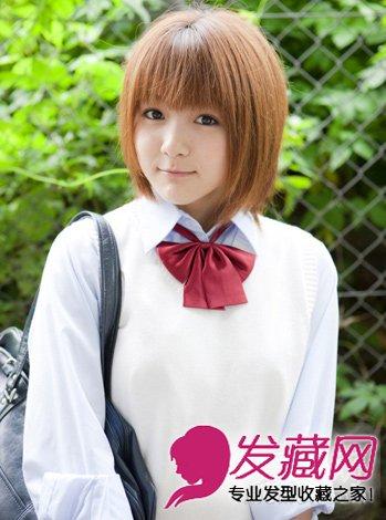 校园seqing_黄色的染发颜色,很有日系校园美少女的感觉.