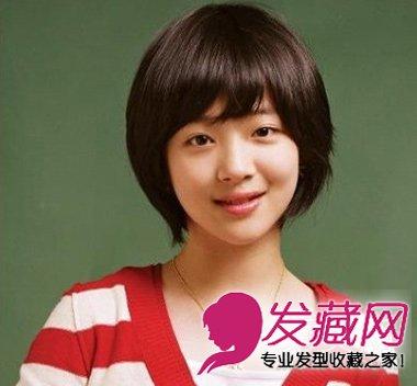 夏季必备齐刘海的短发梨花头发型(5)图片