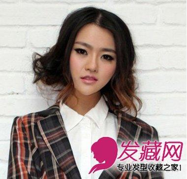 时尚的韩国女生发型,中分齐肩 短发 突显女生靓丽 ...