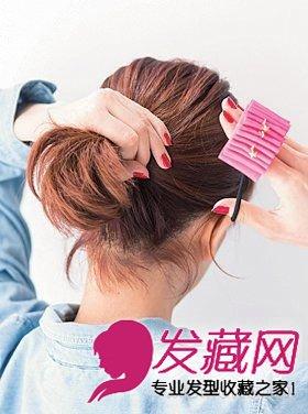 【图】简单可爱齐刘海短发如何扎好看(3); 齐肩短发怎么扎 韩式甜美