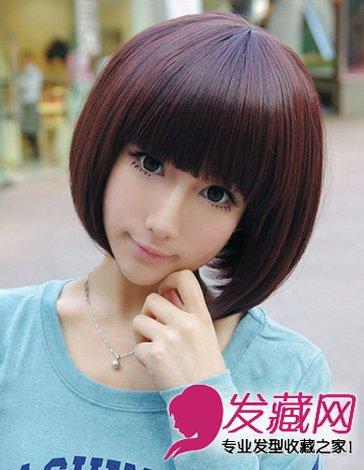 夏季最in的短发发型 斜刘海的波波头短发(7)