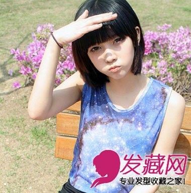 学韩国女生剪短发发型 13款look时髦百变不 →日系有点港风的后背