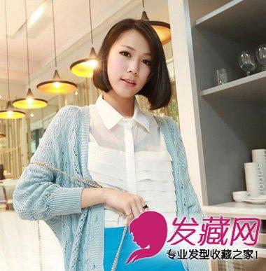 齐刘海的蘑菇头短发发型(2)  导读:斜分的短 直发 发型,柔顺的直发图片