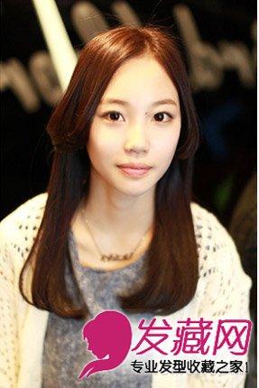 圆脸必备的韩式卷发 长发本身就能有效拉长脸型(3)图片