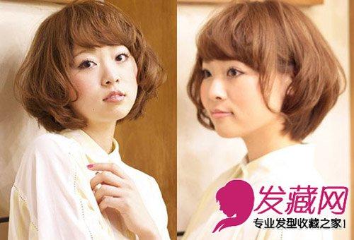 齐刘海中短发梨花头 自然的直发弧形刘海很自然(8)图片
