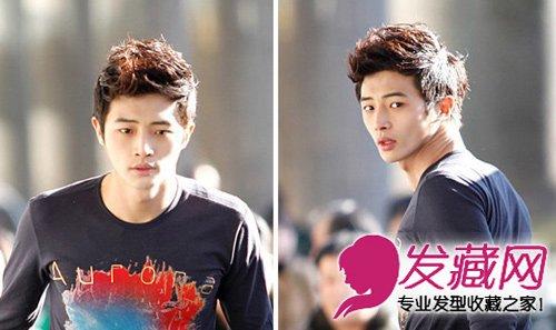 夏季最新韩式男生烫发 经典的男士纹理烫发(6)图片