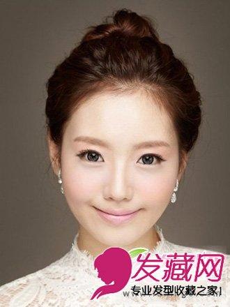 盘发+皇冠发饰的造型 韩式新娘发型的经典款.(3)图片