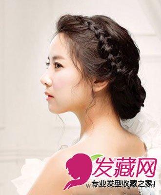 漂亮的盘发发型搭配精致妆容 韩式盘发超唯美 4图片
