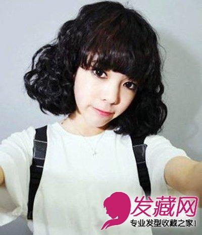 侧刘海淑女短发 打造时尚甜美小女人(3)  导读:可爱短卷发 可爱俏皮