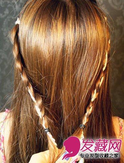 发型网 女生发型 女生长发发型 > 中长发怎么扎好看 披肩半扎发显得
