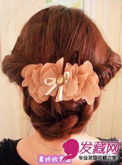 不妨和发型网小 编来学学韩式盘发图解,打造淑女气质发型,最适合夏季图片