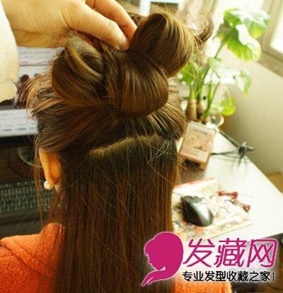 公主范蝴蝶结发型教程图解 甜美又可爱(4)