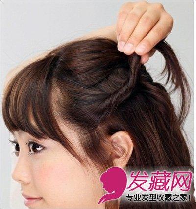 短发发型 > 齐肩短发怎么扎好看 女生齐肩短发发型(3)  导读:步骤2,两