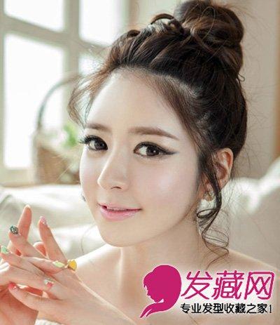 韩式甜美短发扎发图解 →2013夏季发型怎么扎 时尚韩式盘发清爽甜美