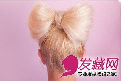【图】简单蝴蝶结发型扎发图解 时尚又大方_编发教程