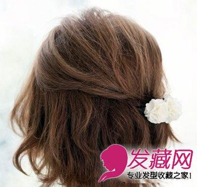 夏季短发怎么扎 小清新范儿短发编发图解(2)图片
