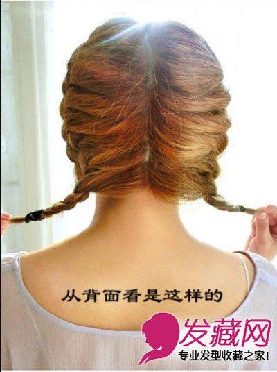 夏季短发怎么扎好看 韩式甜美短发扎发图解(7)图片