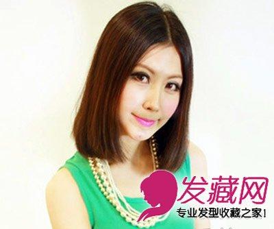 8款简单时尚有气质 →圆脸适合什么短发 中分的齐肩发型 →2015最新日