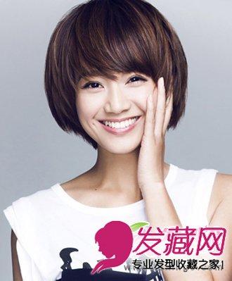 美女主播朱丹 不对称的刘海设计短发发型(3)图片