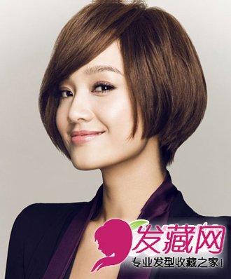 美女主播朱丹 不对称的刘海设计短发发型(4)