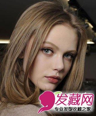 【图】欧美简约中分中长发发型