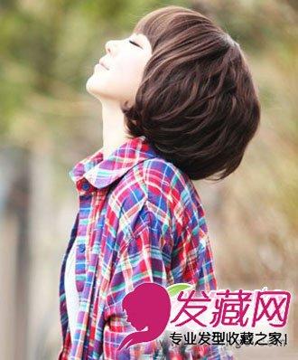 编发发型 学会它短发也能美过长 →短卷发搭配空气刘海 小清新韩范儿