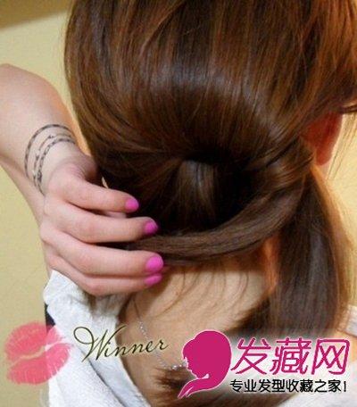 发型网 发型diy 盘发教程 > 超简单韩式盘发教程 长发如何扎好看(5)