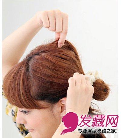 中长发公主头扎法 快速造就甜美容颜(4)