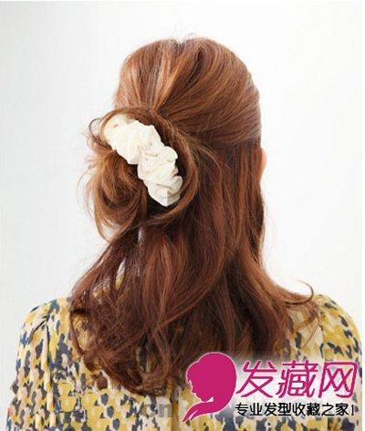 2016发型图片女中长发 →齐肩发型扎法,扎发后美的不止一点点