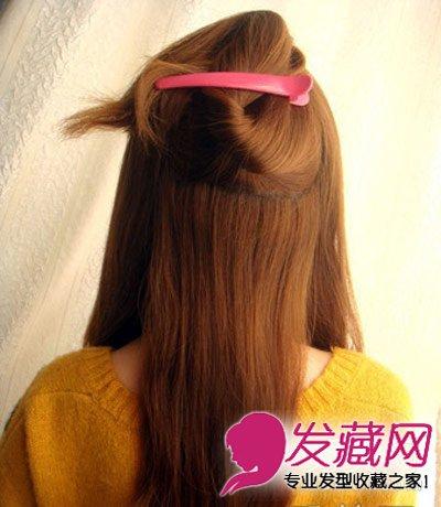 夏季中长发发型扎法 非常美丽的半扎发发型(2)图片