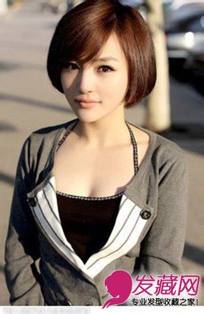 红棕色系的靓丽短发 女生短发发型图片(8)