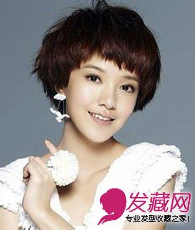 红棕色系的靓丽短发 女生短发发型图片(6)图片