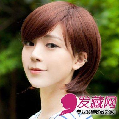 > 最新短发发型图片大全 时尚甜美引爆潮流(5)  导读:大侧分的刘海图片