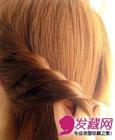 长发怎么扎好看 简单韩式盘发教程图解(5)