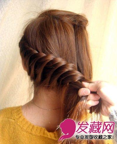 发型网 发型diy 盘发教程 > 长发怎么扎好看 简单韩式盘发教程图解(6)