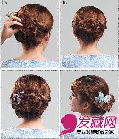 最简单花式盘发教程 一分钟diy马尾辫发型 →可爱蝴蝶结发型扎法