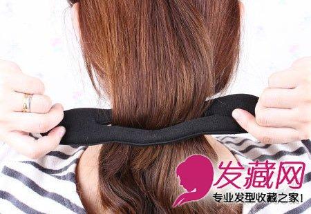 长发变短发盘发教程 柔软自然的中长发发型(4)图片