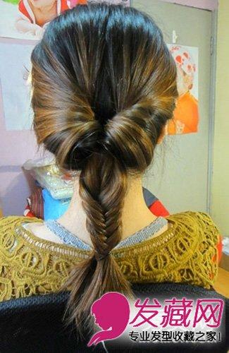 马尾辫怎么扎好看 鱼骨辫马尾扎发非常的时尚(5)