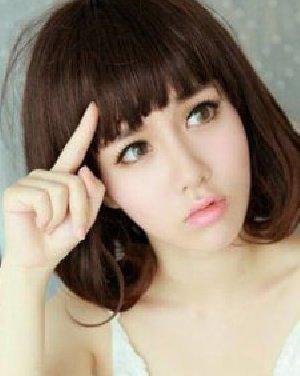 简单的梨花头发型 齐刘海短发很可爱