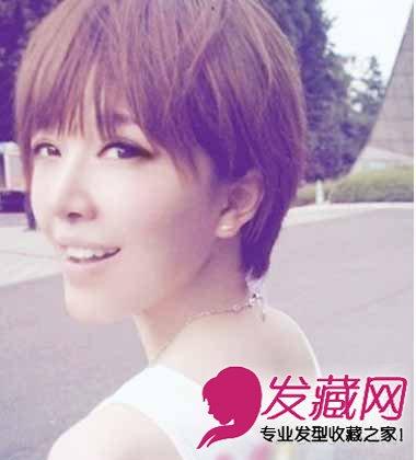 简单的梨花头发型 齐刘海短发很可爱(6)