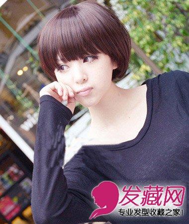 简单的梨花头发型 齐刘海短发很可爱(7)