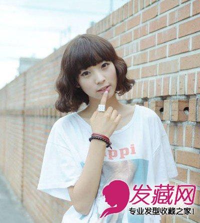 【图】2015最新短发烫发发型