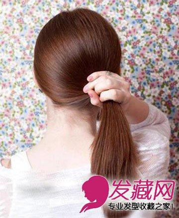 2款简单扎发教程 教你长发变短发的扎法(2)