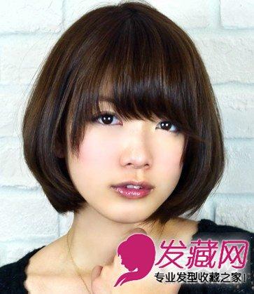 魅力齐刘海短发 有一种魅力叫齐刘海短发 →苹果头怎么扎 剪曲筱绡
