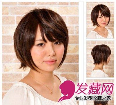 简单内卷刘海短发发型 圆脸型美眉必学(3)
