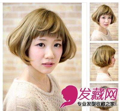 简单内卷刘海短发发型 圆脸型美眉必学(8)