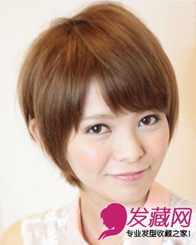 圆脸mm适合的9款发型 染色波波头直发发型(7)图片