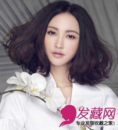 女生梨花头发型图片 甜美呆萌的韩式梨花头