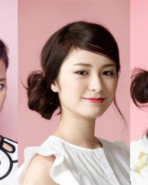 学习夏季发型扎法 3种花苞头扎发减龄