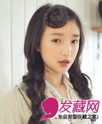 长发卷发发型与斜刘海编发发型搭配(5)